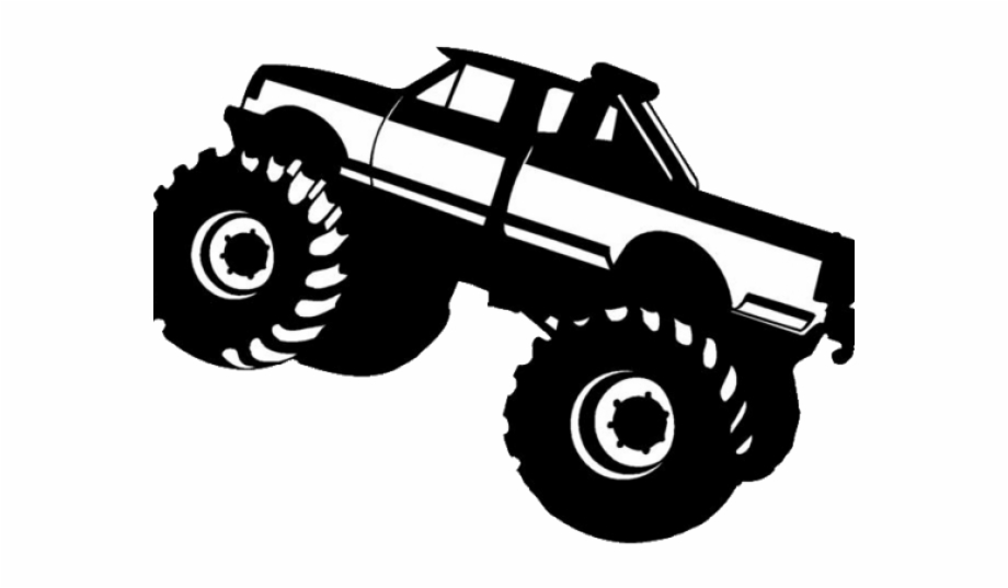 Monster Truck Clipart Black And White Free PNG Images.