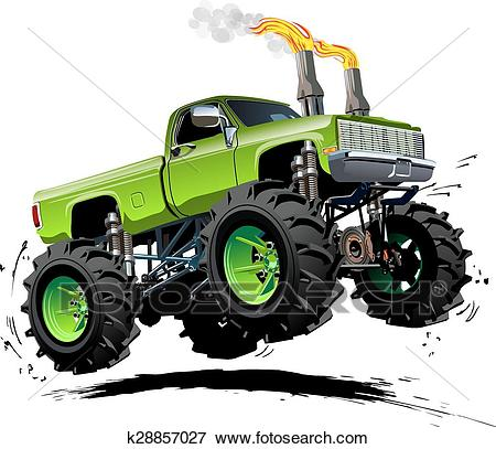 Cartoon Monster Truck Clip Art.