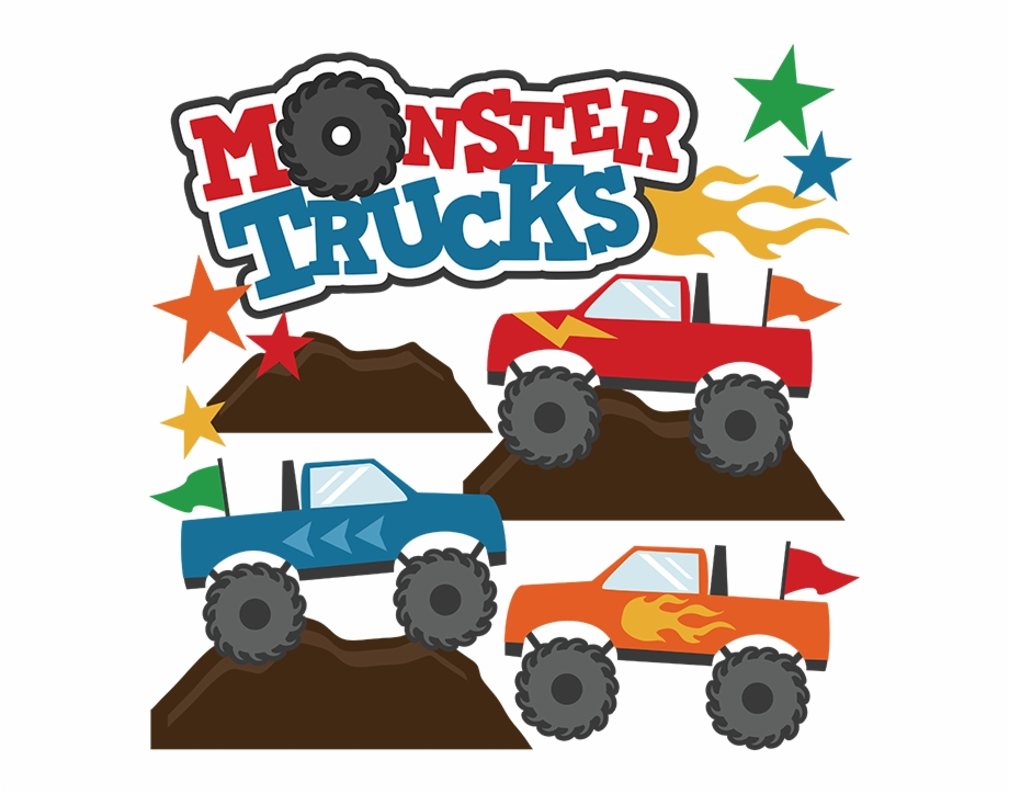 Monster Trucks Svg Scrapbook Collections Monster Trucks.