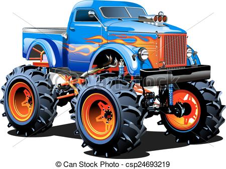 Monster truck Vector Clipart EPS Images. 290 Monster truck clip.