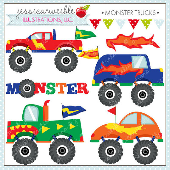 Free monster truck clipart images.
