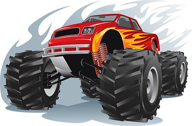 Best Monster Truck Illustrations, Royalty.