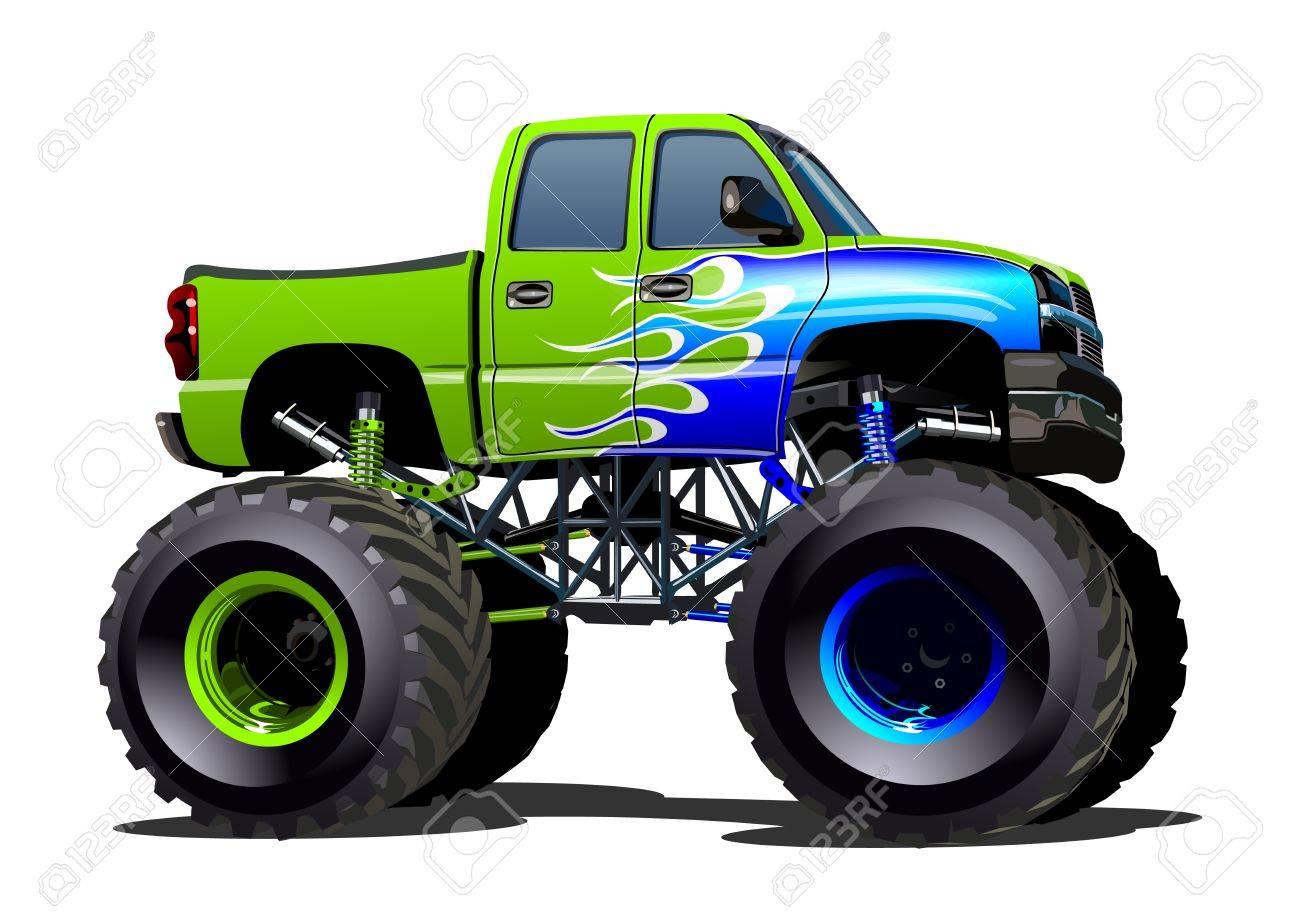 Cartoon Monster Truck. Available EPS.