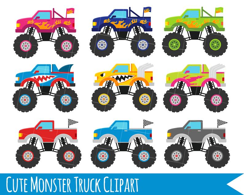 Monster Truck Clipart, Monster Trucks, Trucks clipart, Cute trucks, pick up  truck clipart, monster clipart, car clipart png and svg.