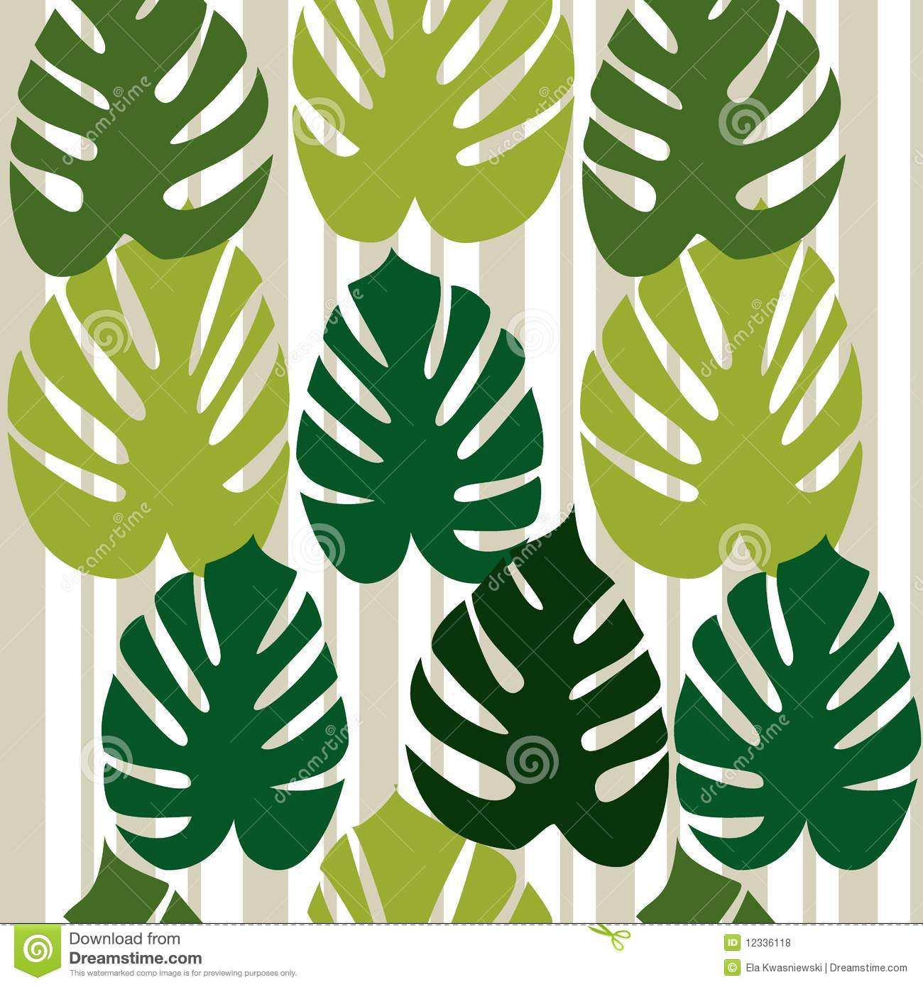 Monstera Deliciosa Floral Background Vector Royalty Free Stock.