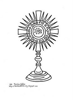 Free catholic clip art monstrance.