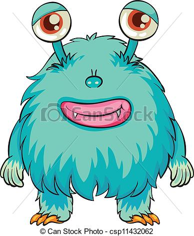 Clip Art Vector of monster.