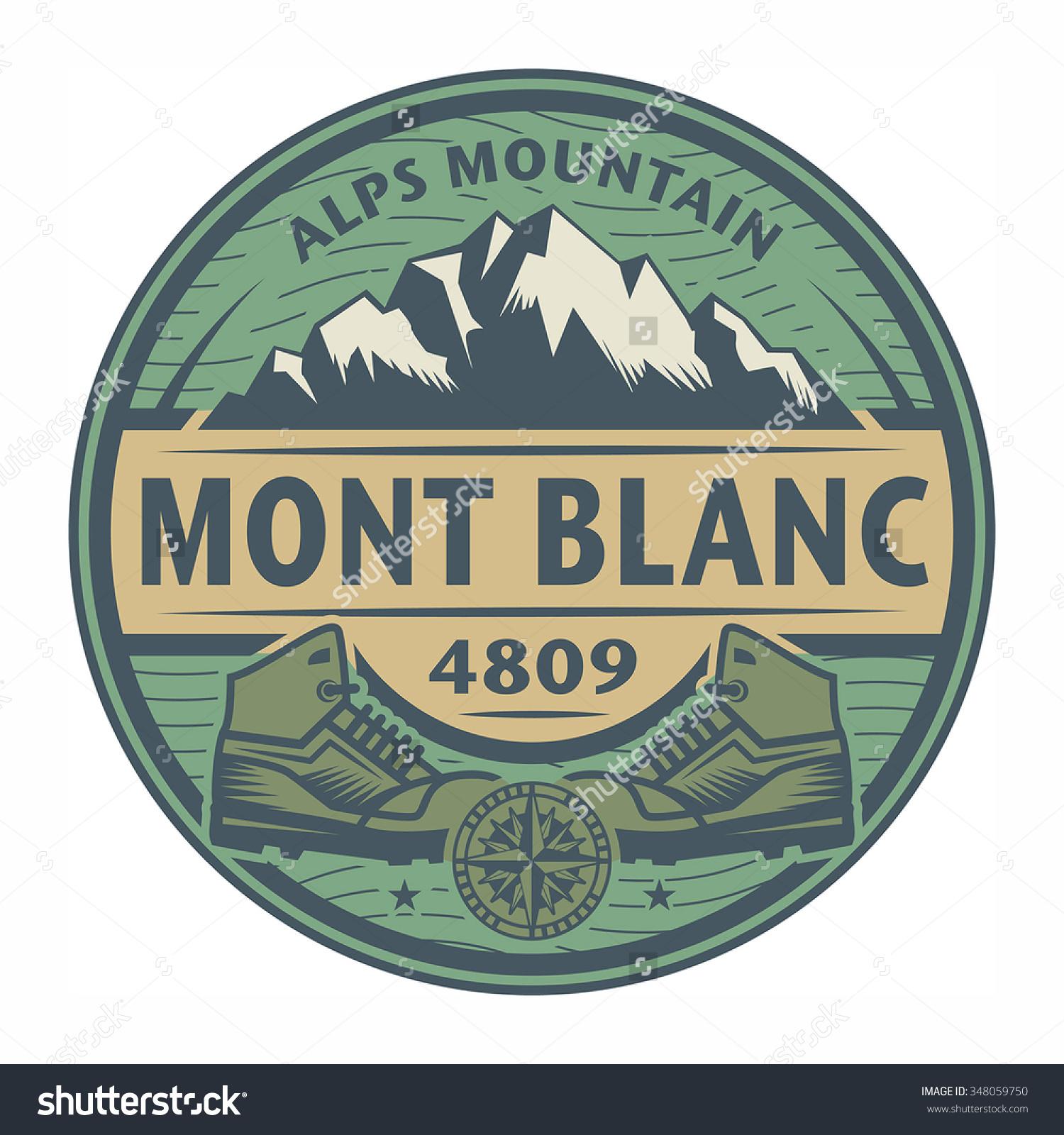 Stamp Emblem Text Mont Blanc Alps Stock Vector 348059750.