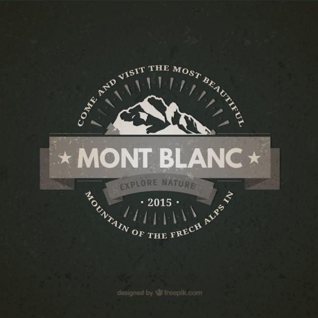 Mont Blanc Vintage Badge Free Vector.