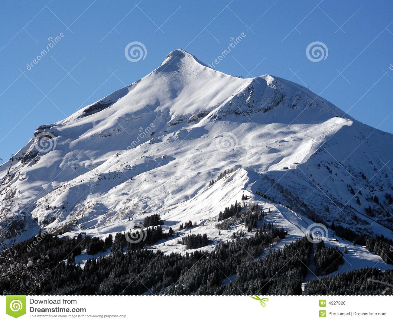 Mont Blanc Snow Mountain Royalty Free Stock Image.