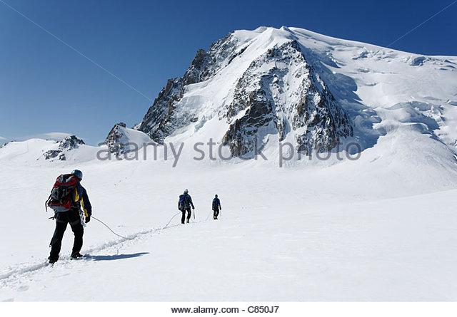 Mountain Crevasse Crossing Stock Photos & Mountain Crevasse.