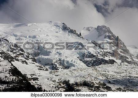"""Pictures of """"Mont Blanc du Tacul, Mont Maudit, Mont Blanc Massif."""