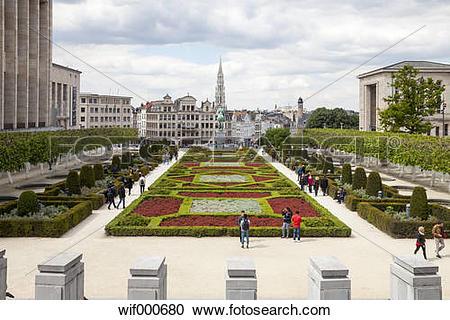 Stock Photography of Belgium, Brussels, Mont des arts, Place de l.