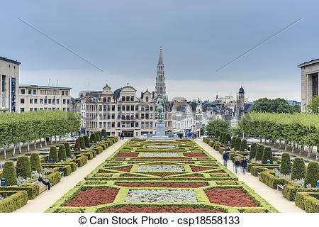 Stock Photos of The Mount of the Arts in Brussels, Belgium.