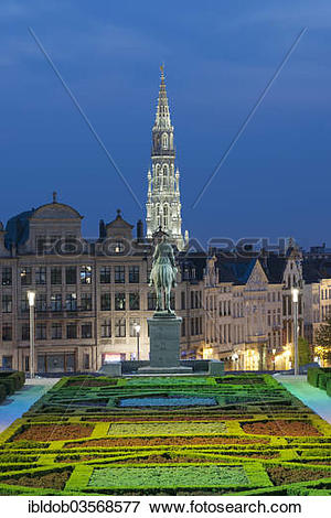 """Picture of """"View from Mont des Arts, Mont des Arts, at the."""