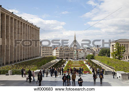 Stock Photo of Belgium, Brussels, Mont des arts, Place de l.