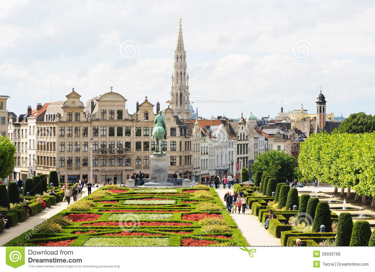 Mont Des Arts, Brussels Editorial Stock Image.