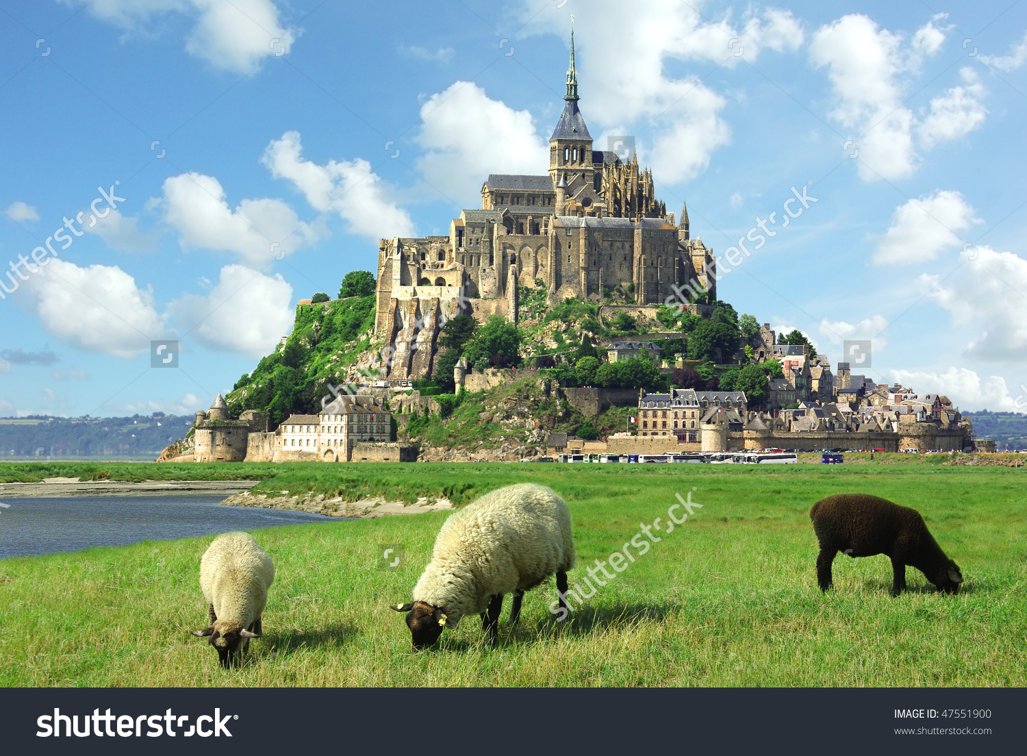 Mont Saint Michel Stock Photo 47551900.
