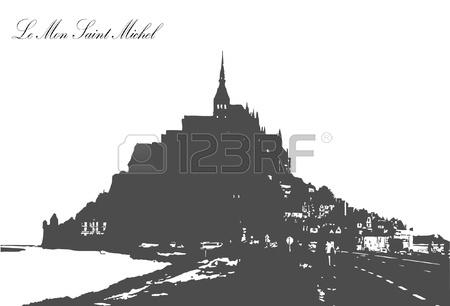 Le Mont Saint Michel,Normandy Royalty Free Cliparts, Vectors, And.