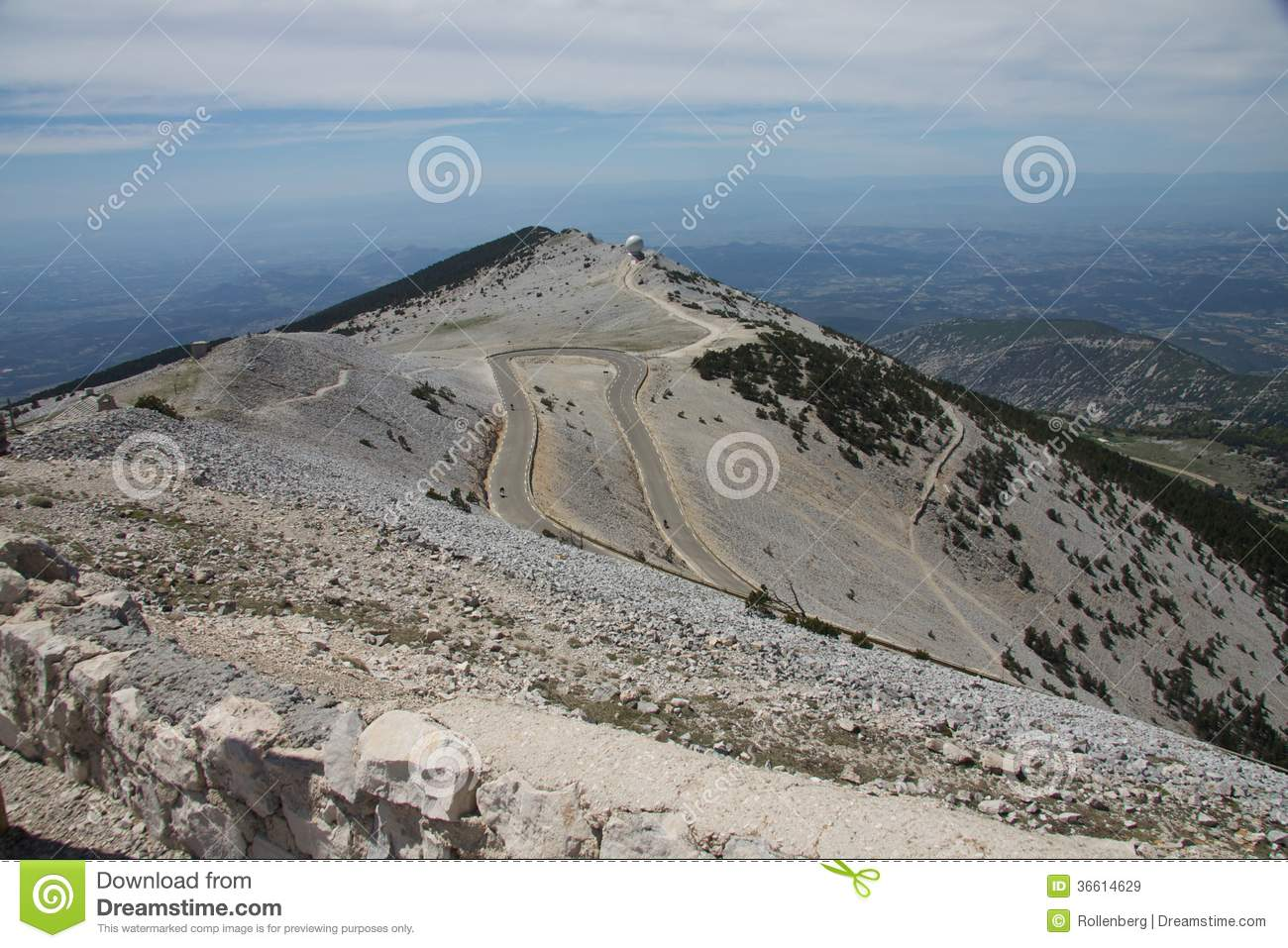 At Top Of The Mountain Mont Ventoux Royalty Free Stock Images.