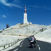 Stock Image of PEOPLE AND BIKERS AND SOUVENIR SHOP ON TOP OF MONT.
