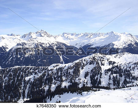 Stock Photography of Montafon aerial view k7648350.