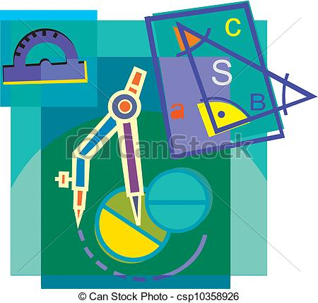 Clip Art of Geometry tools, montage csp10358926.