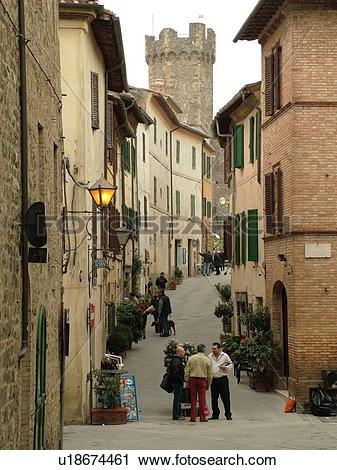 Stock Photography of Tuscany, Italy, Montalcino, Toscana, Europe.