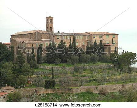 Stock Photo of Italy, Tuscany, Montalcino, Toscana, Europe.