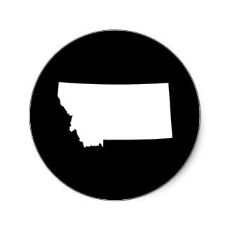Montana In White And Black Round Stickers P En F.