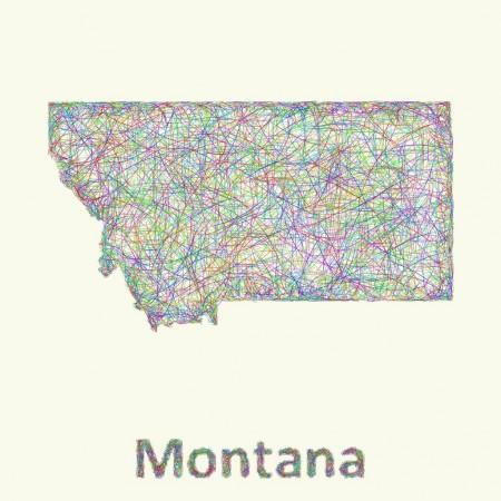 Montana outline vector Stock Vectors, Royalty Free Montana outline.