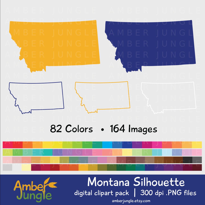 Montana Silhouette Clipart.