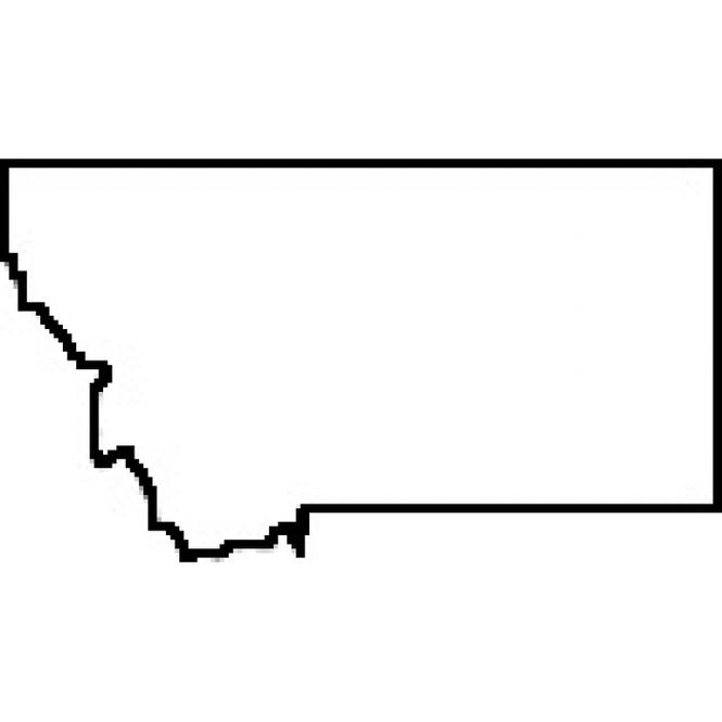 Blank Map Of Montana.