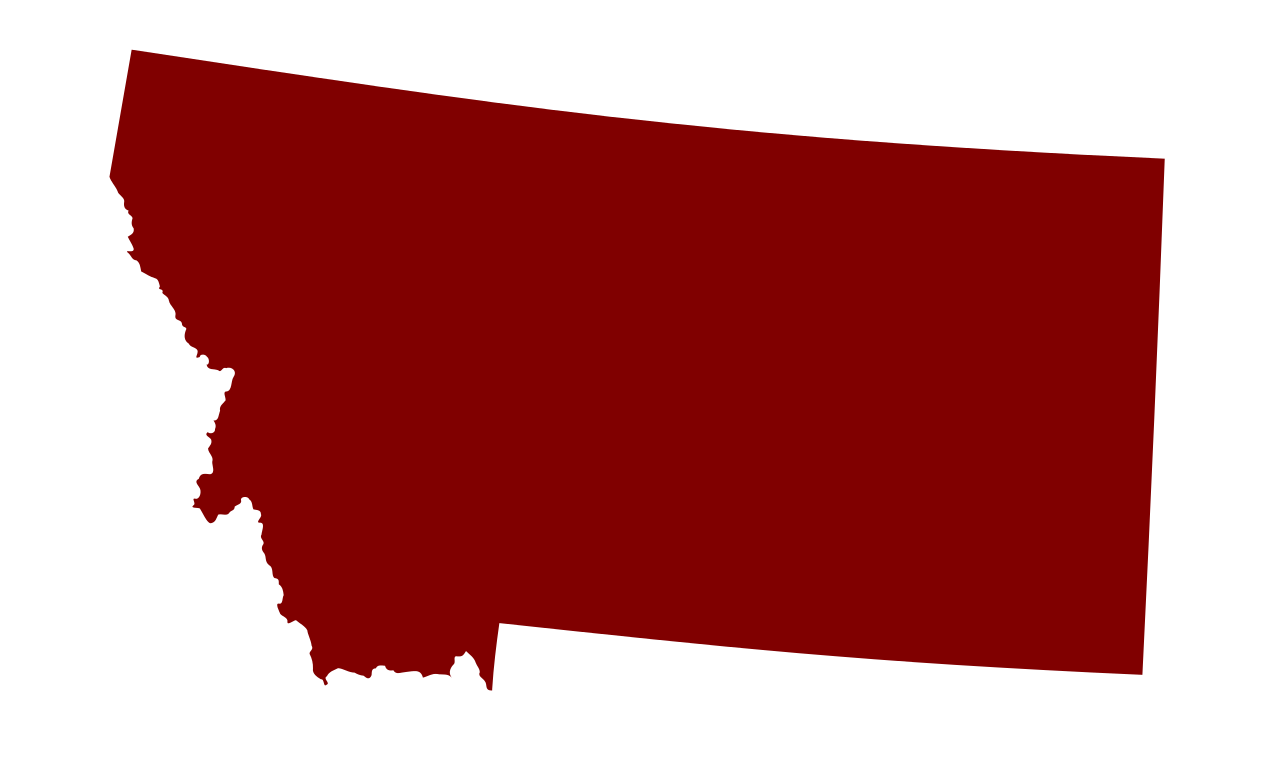 Clipart states outline montana.