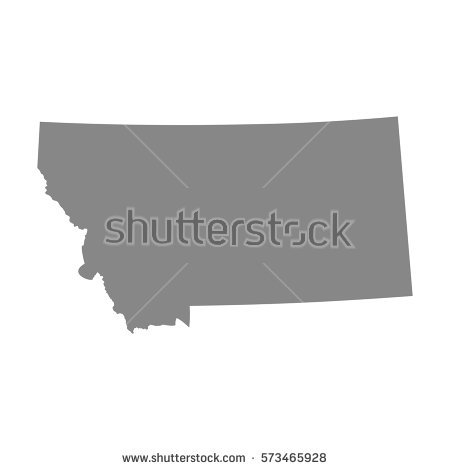 Montana Map Stock Images, Royalty.