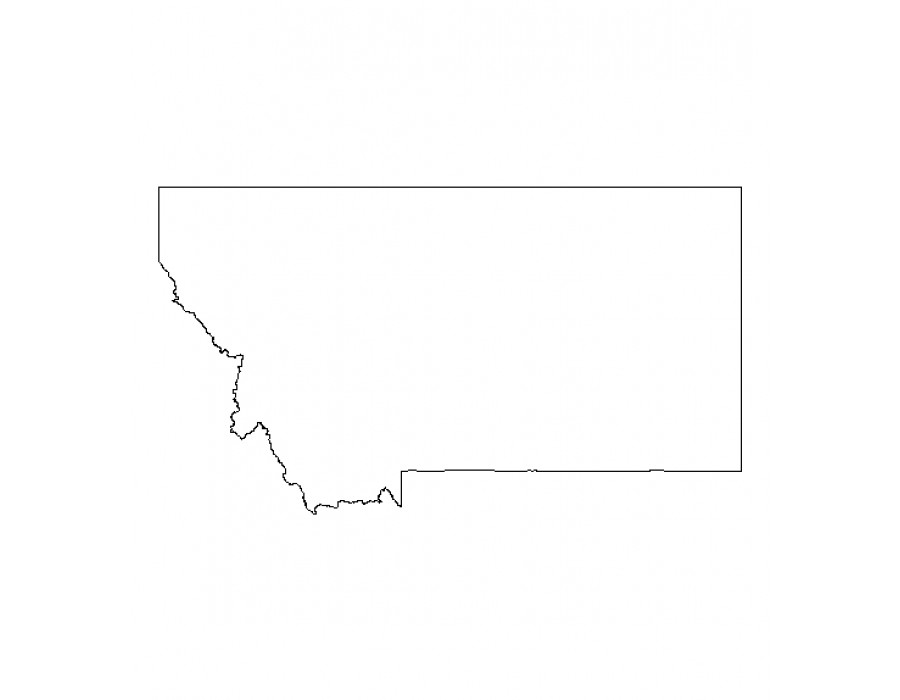 Montana State Shape Pictures to Pin on Pinterest.