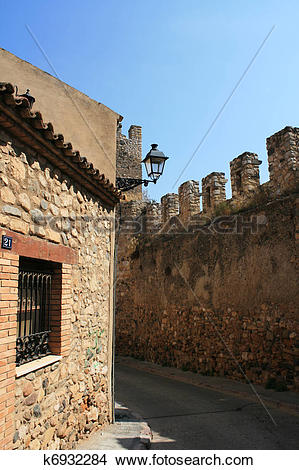 Stock Photo of Castle of Montblanc, Catalonia, Spain k6932284.