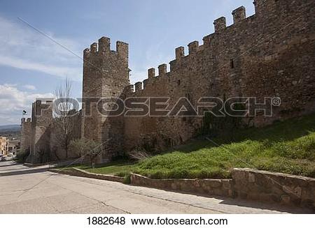 Pictures of Section Of Wall Of A Walled City; Montblanc, Tarragon.