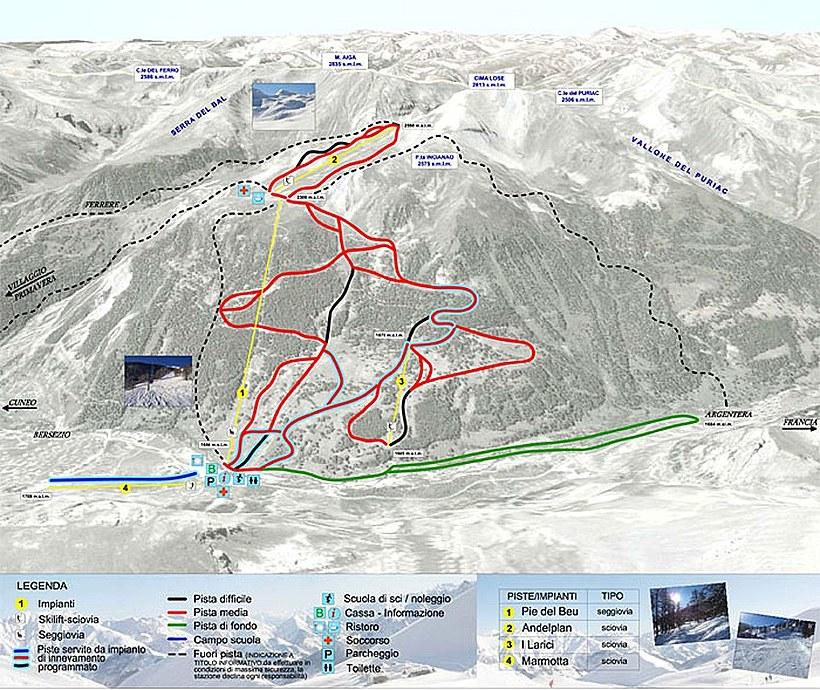 bergfex: Ski resort Argentera: Skiing holiday Argentera.