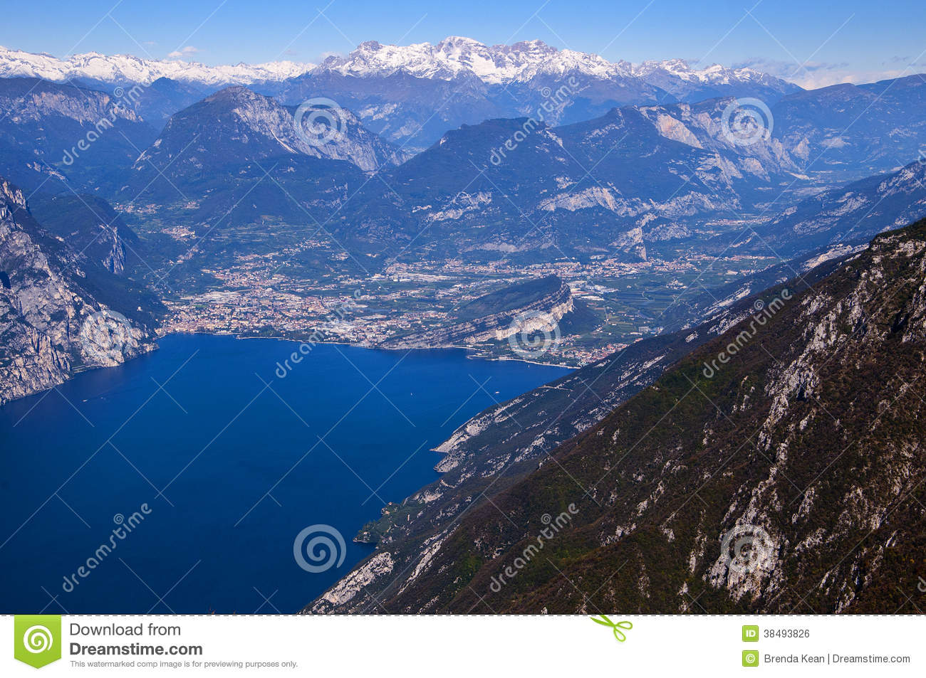 View From The Top Of Monte Baldo Royalty Free Stock Image.