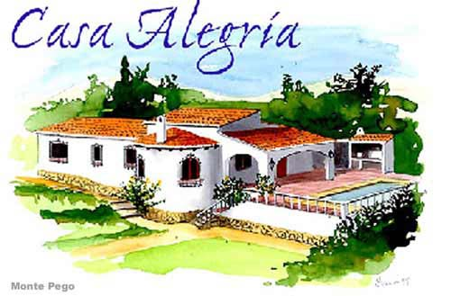 Spanish villas in Monte Pego.
