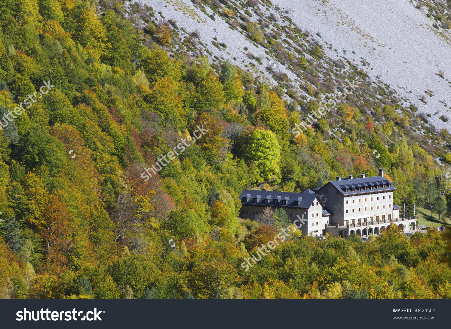 Ordesa Monte Perdido National Parador Pineta Stock Photo 60424507.