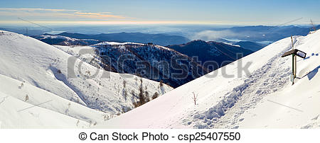 Stock Images of monte rosa glacier from mottarone bright sunny day.