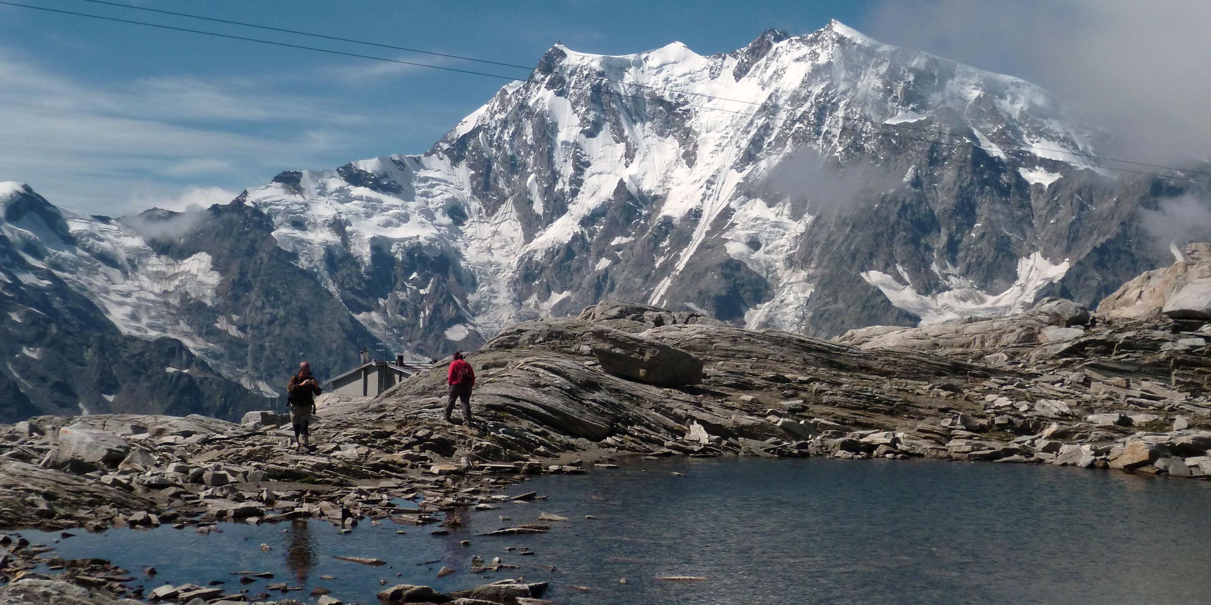 Hike the Tour de Monte Rosa in the Swiss & Italian Alps.