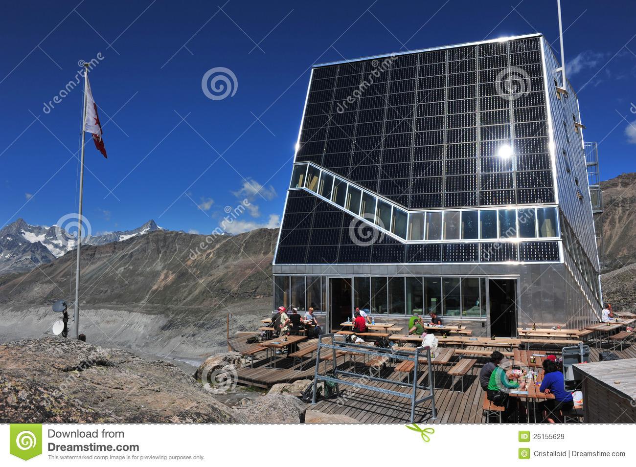 New Monte Rosa Hut Editorial Stock Image.