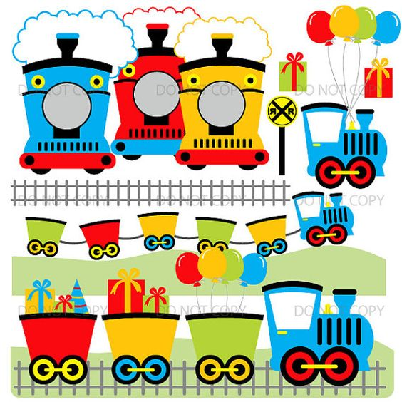 Train clipart choo choo train clip art birthday party by ArtAmoris.