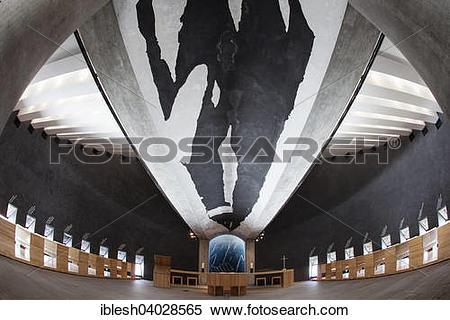 "Stock Image of ""Interior of the Chapel of Santa Maria degli Angeli."