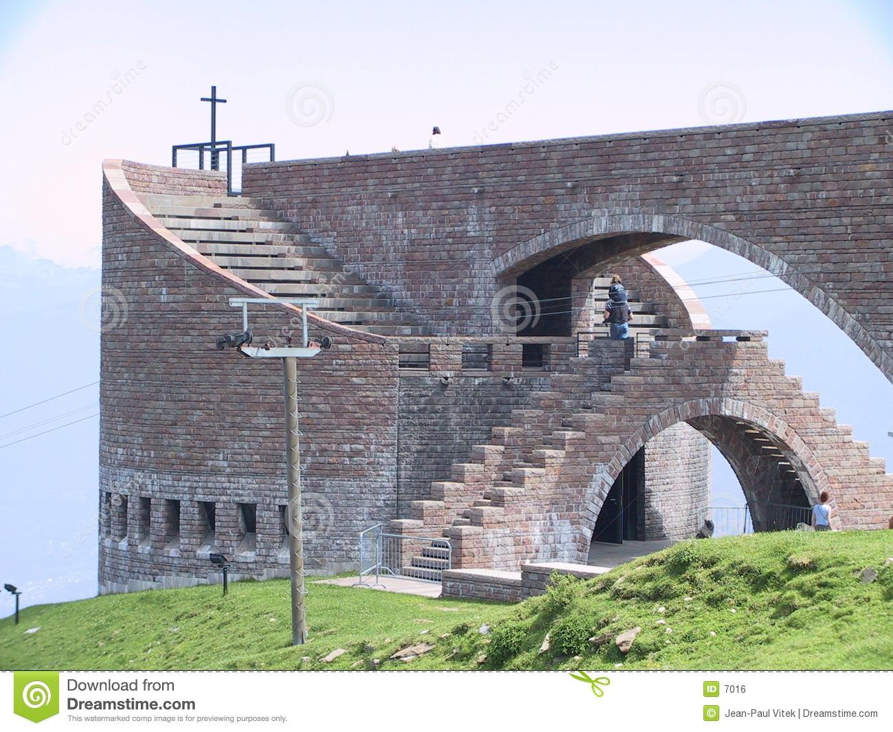 Botta Church On Monte Tamaro TI Switzerland Royalty Free Stock.