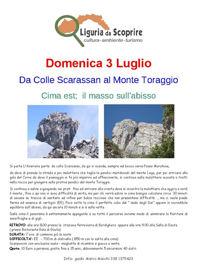 Walking from Colle Scarassan to Monte Toraggio.