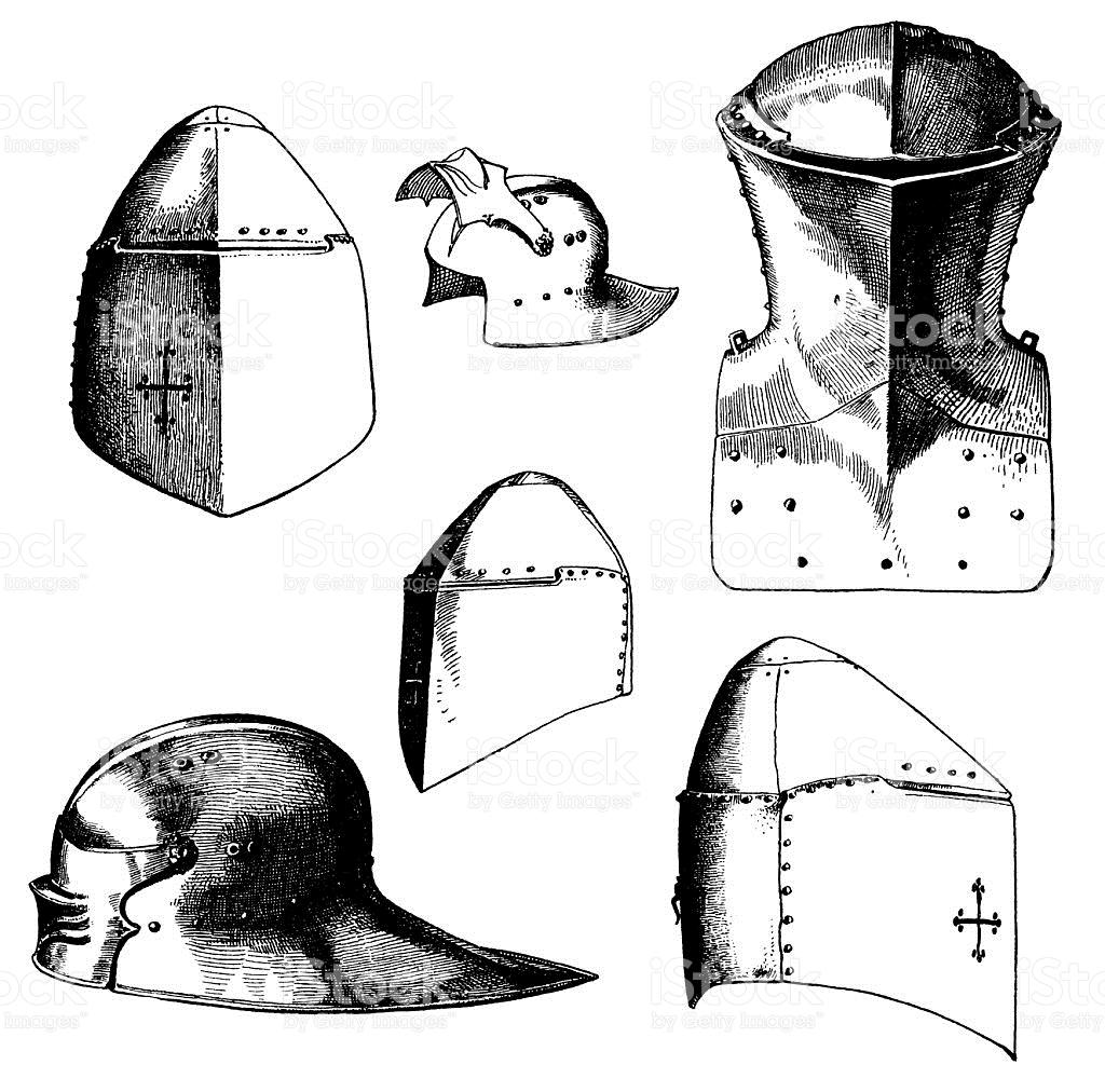 Knight I Caschi Illustrazione 471223943.